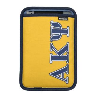 Alpha Kappa Psi Navy Letters iPad Mini Sleeve