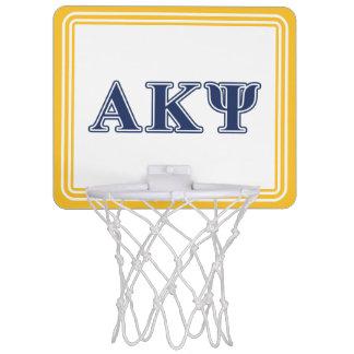 Alpha Kappa Psi Navy Letters Mini Basketball Hoop