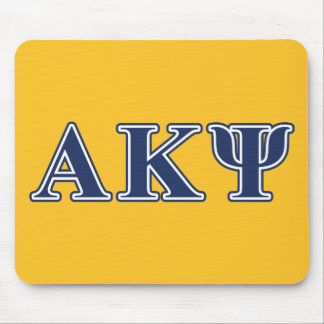 Alpha Kappa Psi Navy Letters Mouse Mat