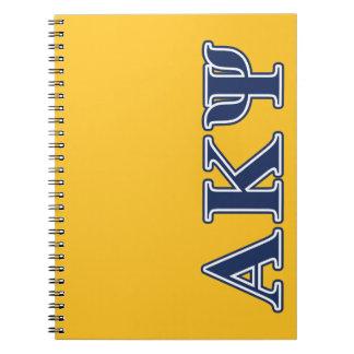 Alpha Kappa Psi Navy Letters Notebooks