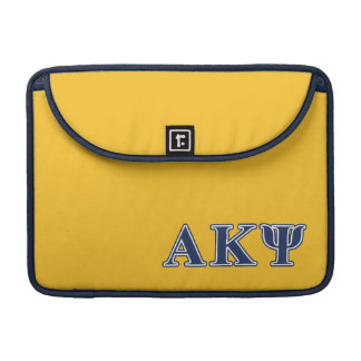 Alpha Kappa Psi Navy Letters Sleeve For MacBooks