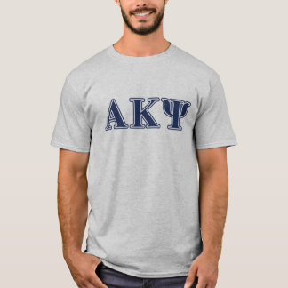 Alpha Kappa Psi Navy Letters T-Shirt