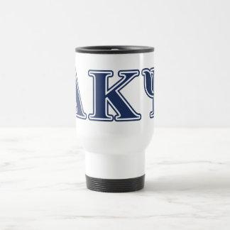 Alpha Kappa Psi Navy Letters Travel Mug