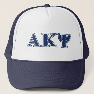 Alpha Kappa Psi Navy Letters Trucker Hat