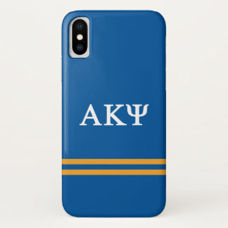 Alpha Kappa Psi | Sport Stripe iPhone X Case