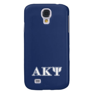 Alpha Kappa Psi White and Navy Letters Galaxy S4 Case