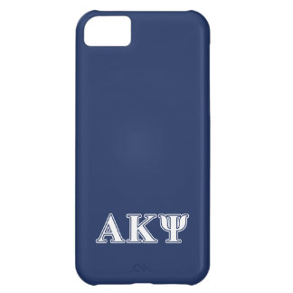 Alpha Kappa Psi White and Navy Letters iPhone 5C Case