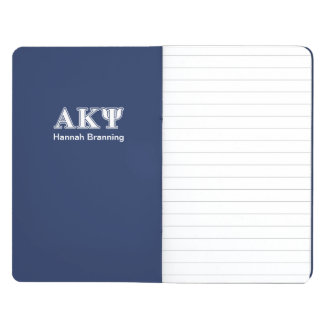 Alpha Kappa Psi White and Navy Letters Journal