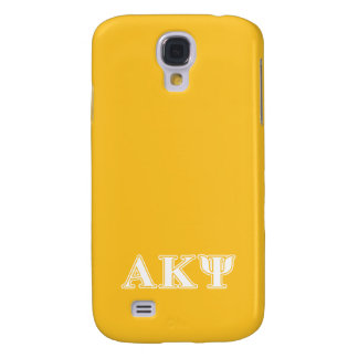 Alpha Kappa Psi White and Yellow Letters Galaxy S4 Case