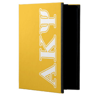 Alpha Kappa Psi White and Yellow Letters iPad Air Cover