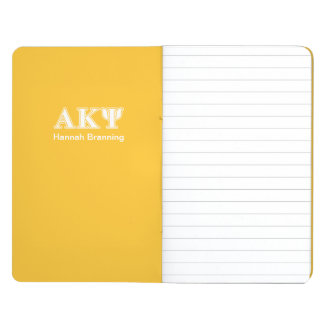 Alpha Kappa Psi White and Yellow Letters Journal