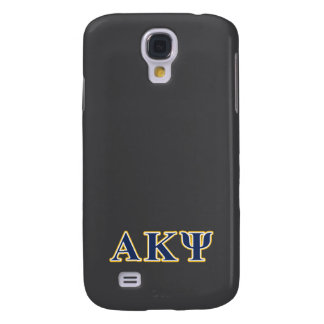 Alpha Kappa Psi Yellow and Navy Letters Galaxy S4 Case