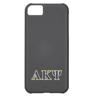 Alpha Kappa Psi Yellow and Navy Letters iPhone 5C Case