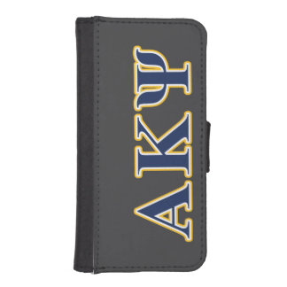 Alpha Kappa Psi Yellow and Navy Letters iPhone SE/5/5s Wallet Case