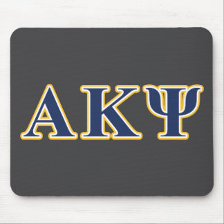 Alpha Kappa Psi Yellow and Navy Letters Mouse Mat