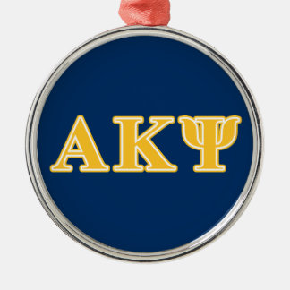Alpha Kappa Psi Yellow Letters Christmas Ornament