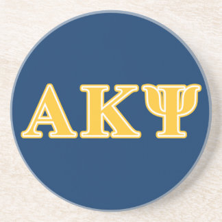 Alpha Kappa Psi Yellow Letters Coaster