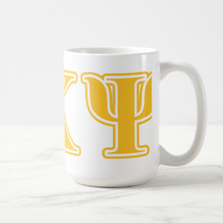 Alpha Kappa Psi Yellow Letters Coffee Mug