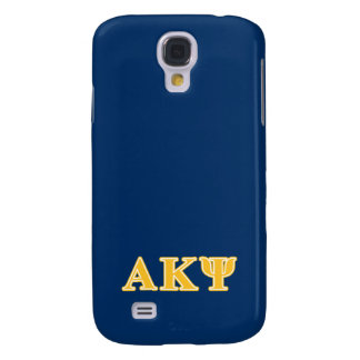 Alpha Kappa Psi Yellow Letters Galaxy S4 Case