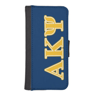 Alpha Kappa Psi Yellow Letters iPhone SE/5/5s Wallet Case