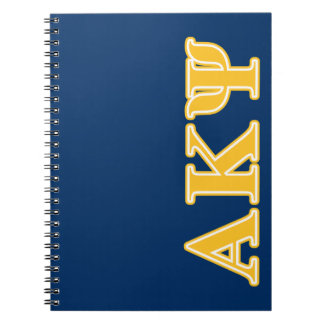 Alpha Kappa Psi Yellow Letters Notebook