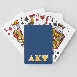 Alpha Kappa Psi Yellow Letters Playing Cards