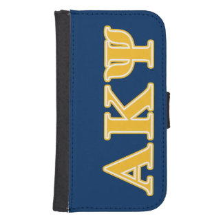 Alpha Kappa Psi Yellow Letters Samsung S4 Wallet Case