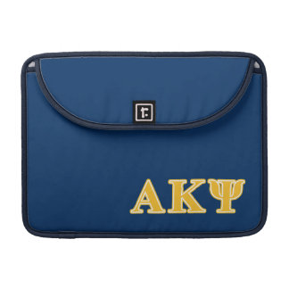 Alpha Kappa Psi Yellow Letters Sleeve For MacBooks