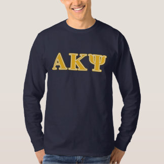 Alpha Kappa Psi Yellow Letters T-Shirt