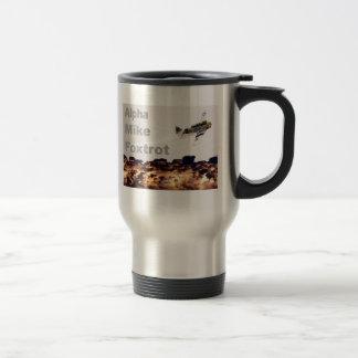 Alpha Mike Foxtrot Stainless Steel Travel Mug