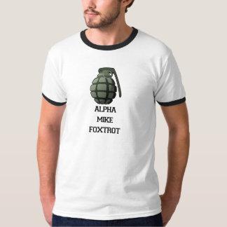 Alpha Mike Foxtrot ringer tshirt