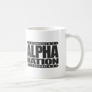 ALPHA NATION - We Love Mixed Martial Arts, Black Basic White Mug
