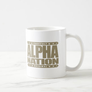 ALPHA NATION - We Love Mixed Martial Arts, Gold Basic White Mug