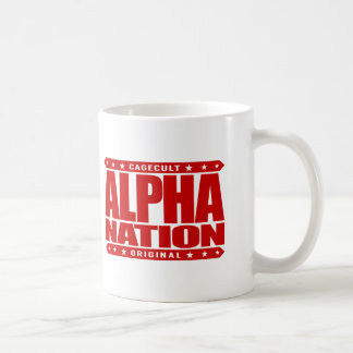ALPHA NATION - We Love Mixed Martial Arts, Red Basic White Mug