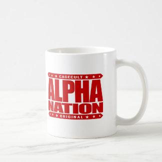 ALPHA NATION - We Love Mixed Martial Arts, Red Basic White Mug