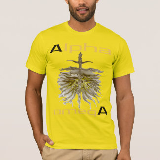 """Alpha omegA""by Michael Crozz T-Shirt"