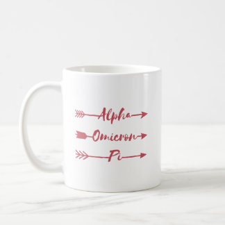 Alpha Omicron Pi Arrow Coffee Mug