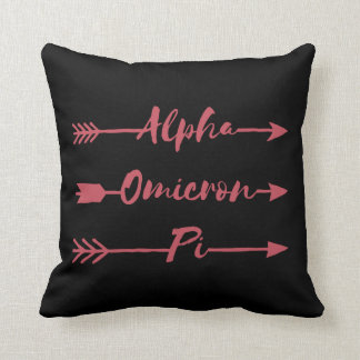 Alpha Omicron Pi Arrow Cushion
