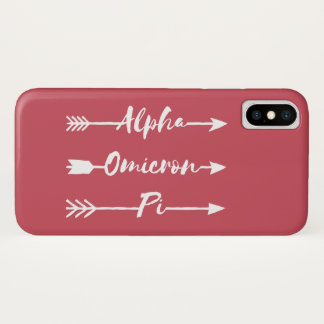 Alpha Omicron Pi Arrow iPhone X Case