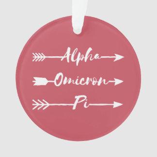 Alpha Omicron Pi Arrow Ornament