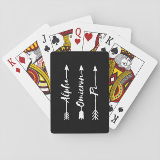 Alpha Omicron Pi Arrow Playing Cards