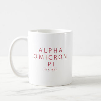 Alpha Omicron Pi Big Script Coffee Mug