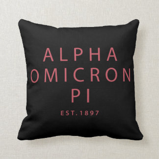 Alpha Omicron Pi Big Script Cushion