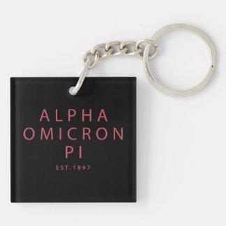 Alpha Omicron Pi Big Script Key Ring