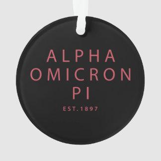 Alpha Omicron Pi Big Script Ornament