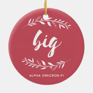 Alpha Omicron Pi Big Wreath Christmas Ornament