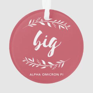 Alpha Omicron Pi Big Wreath Ornament