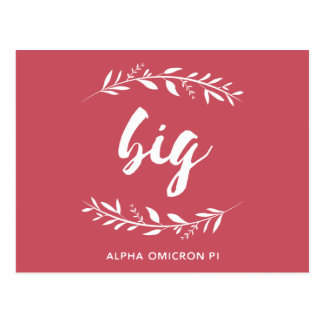 Alpha Omicron Pi Big Wreath Postcard