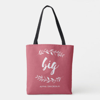 Alpha Omicron Pi Big Wreath Tote Bag