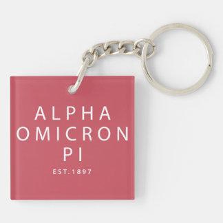 Alpha Omicron Pi Lil Script Key Ring